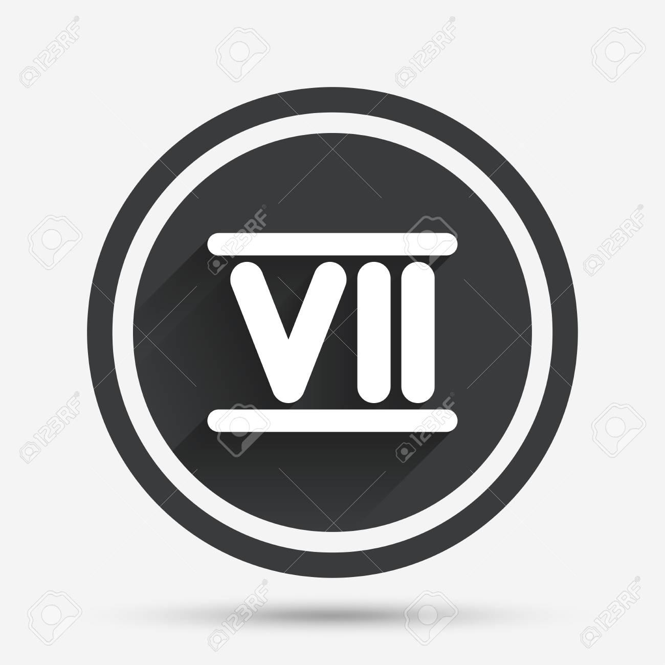 Número Romano Icono De Siete Signo Número Romano De Siete Símbolos