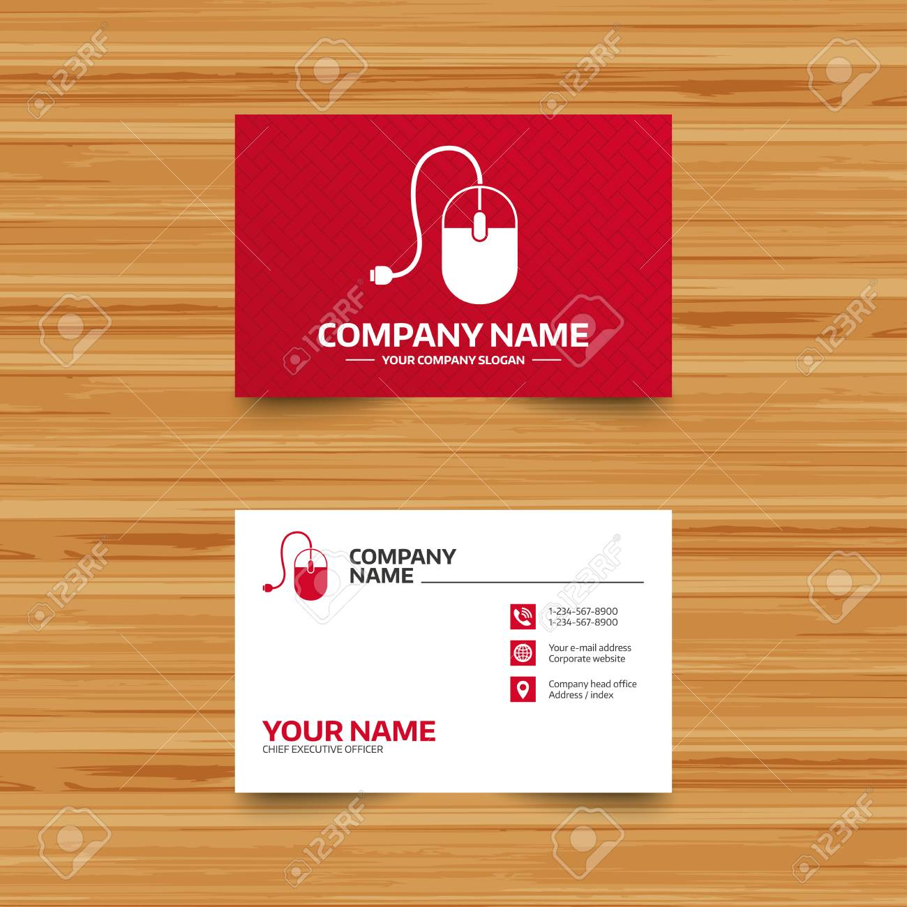 Business card template computer mouse sign icon optical with business card template computer mouse sign icon optical with wheel symbol phone reheart Choice Image