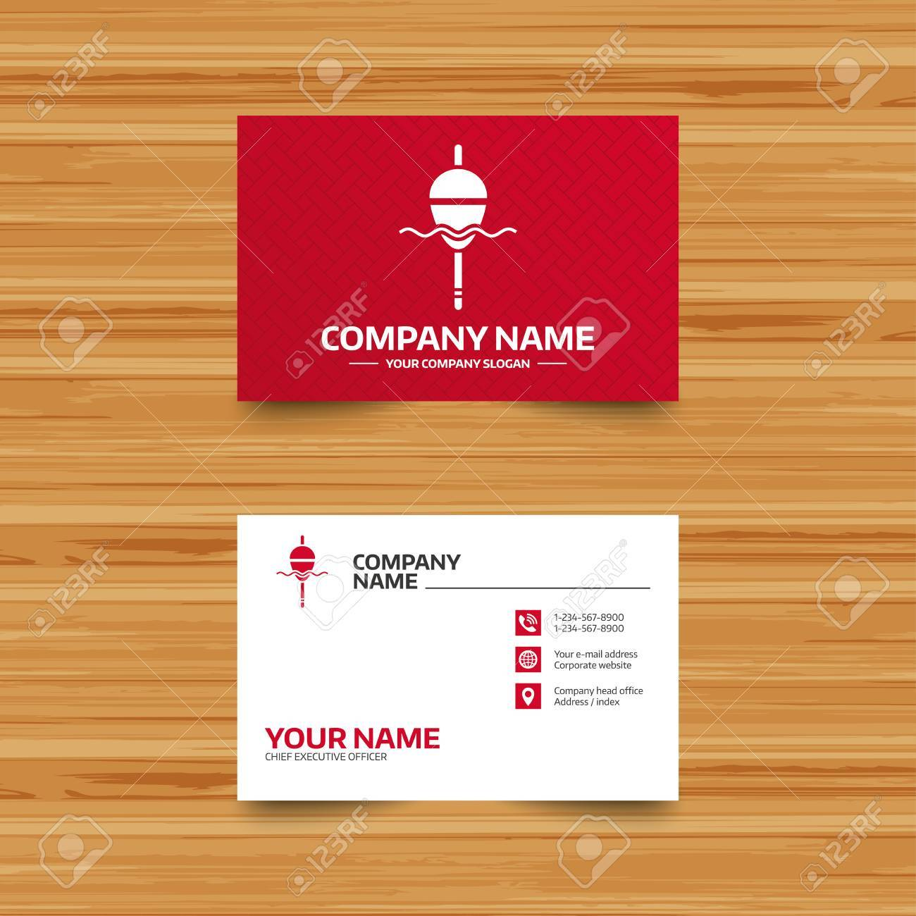Business card template fishing sign icon float bobber symbol business card template fishing sign icon float bobber symbol fishing tackle phone colourmoves