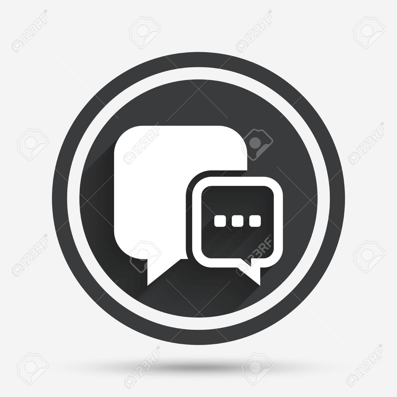 Chat sign icon speech bubble with three dots symbol speech bubble with three dots symbol communication chat bubble circle biocorpaavc
