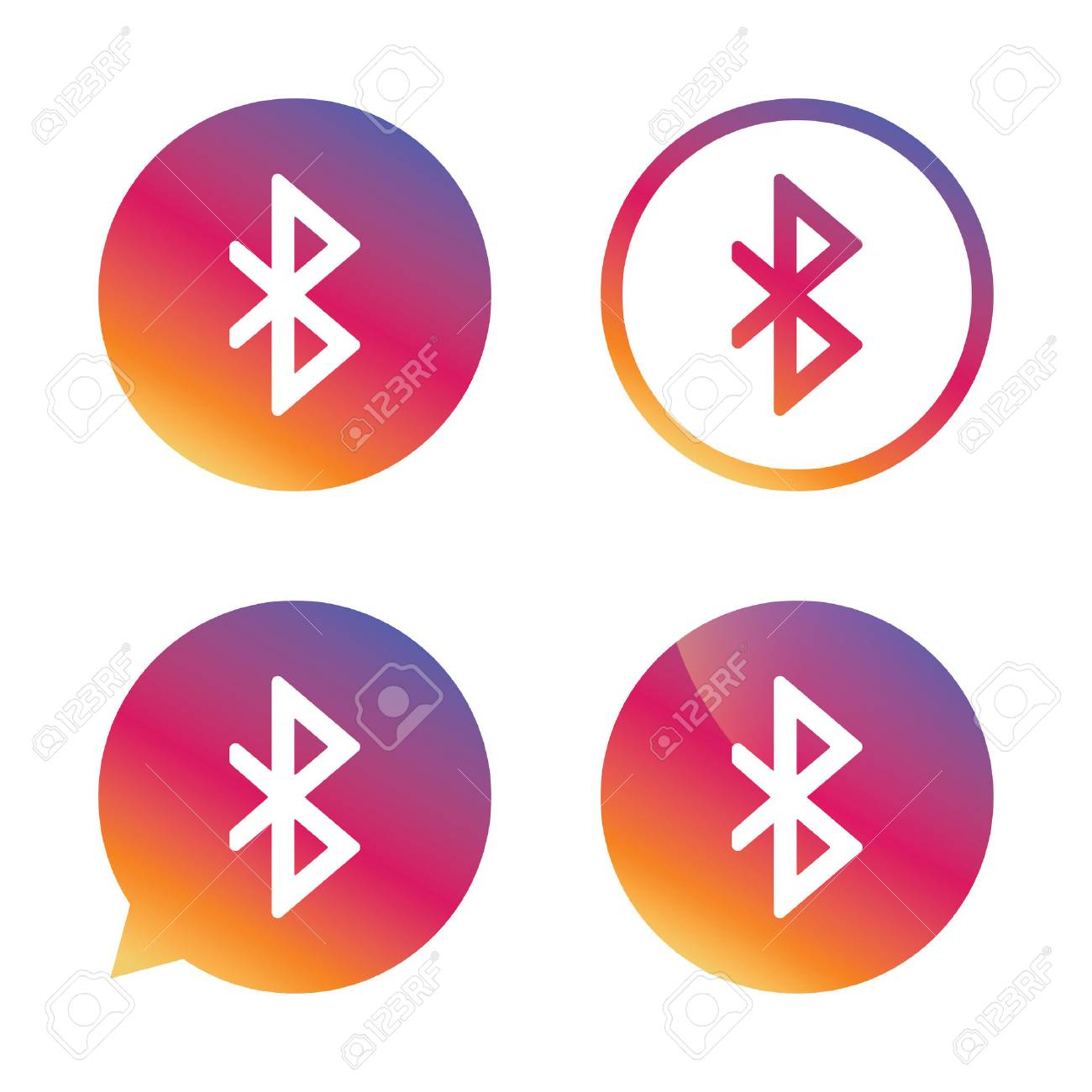 Bluetooth sign icon mobile network symbol data transfer mobile network symbol data transfer gradient buttons with flat icon biocorpaavc