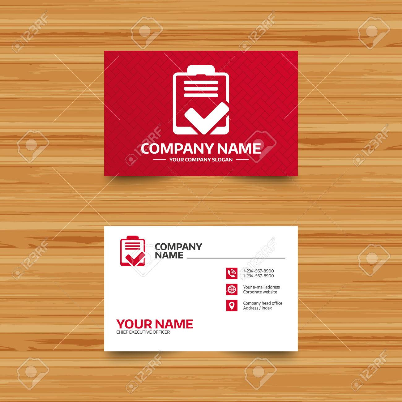 Business card template checklist sign icon control list symbol business card template checklist sign icon control list symbol survey poll or questionnaire reheart Choice Image