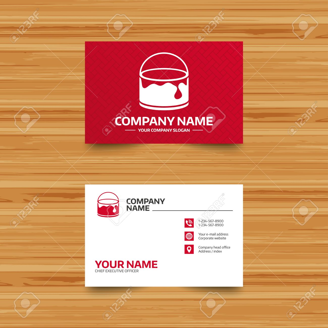 Business card template bucket of paint icon painting works business card template bucket of paint icon painting works sign painter equipment cheaphphosting Images