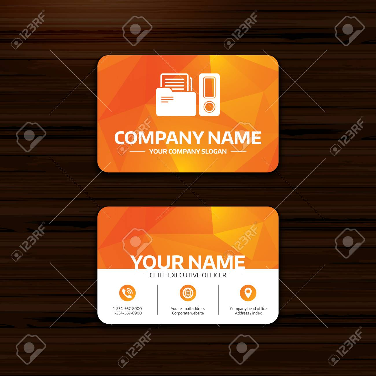 Business or visiting card template document folder sign accounting business or visiting card template document folder sign accounting binder symbol bookkeeping management reheart Choice Image