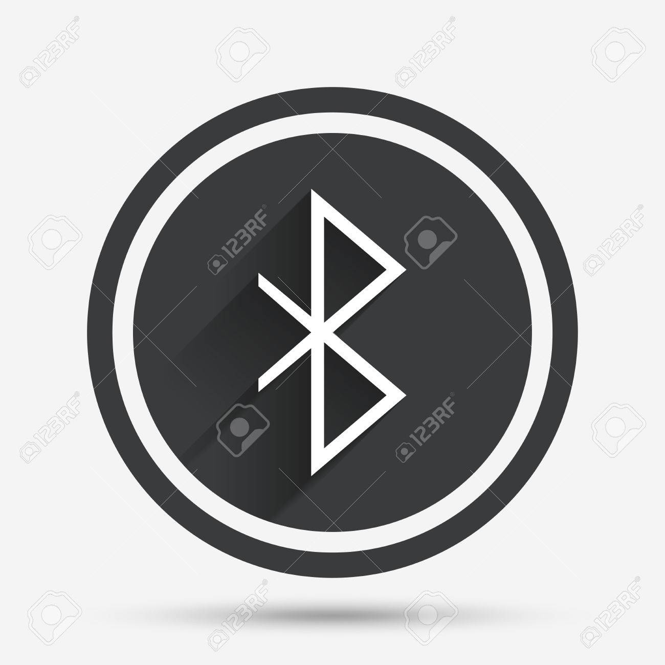 Bluetooth sign icon mobile network symbol data transfer circle mobile network symbol data transfer circle flat button with shadow biocorpaavc