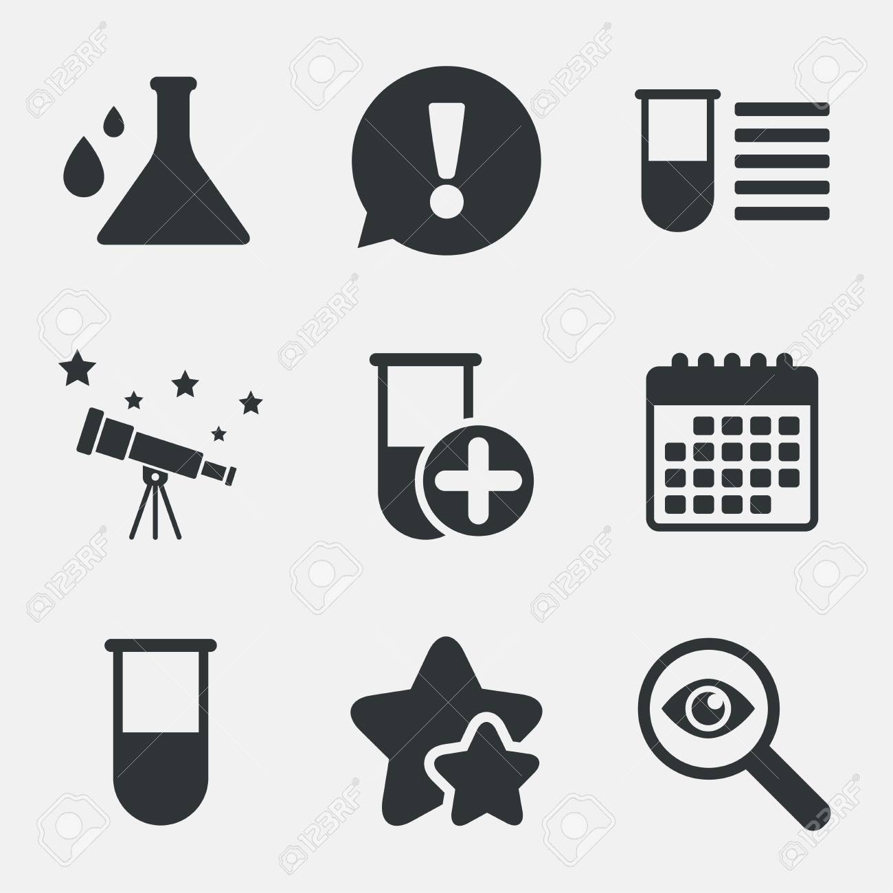 Chemistry bulb with drops icon medical test signs laboratory chemistry bulb with drops icon medical test signs laboratory equipment symbols attention buycottarizona