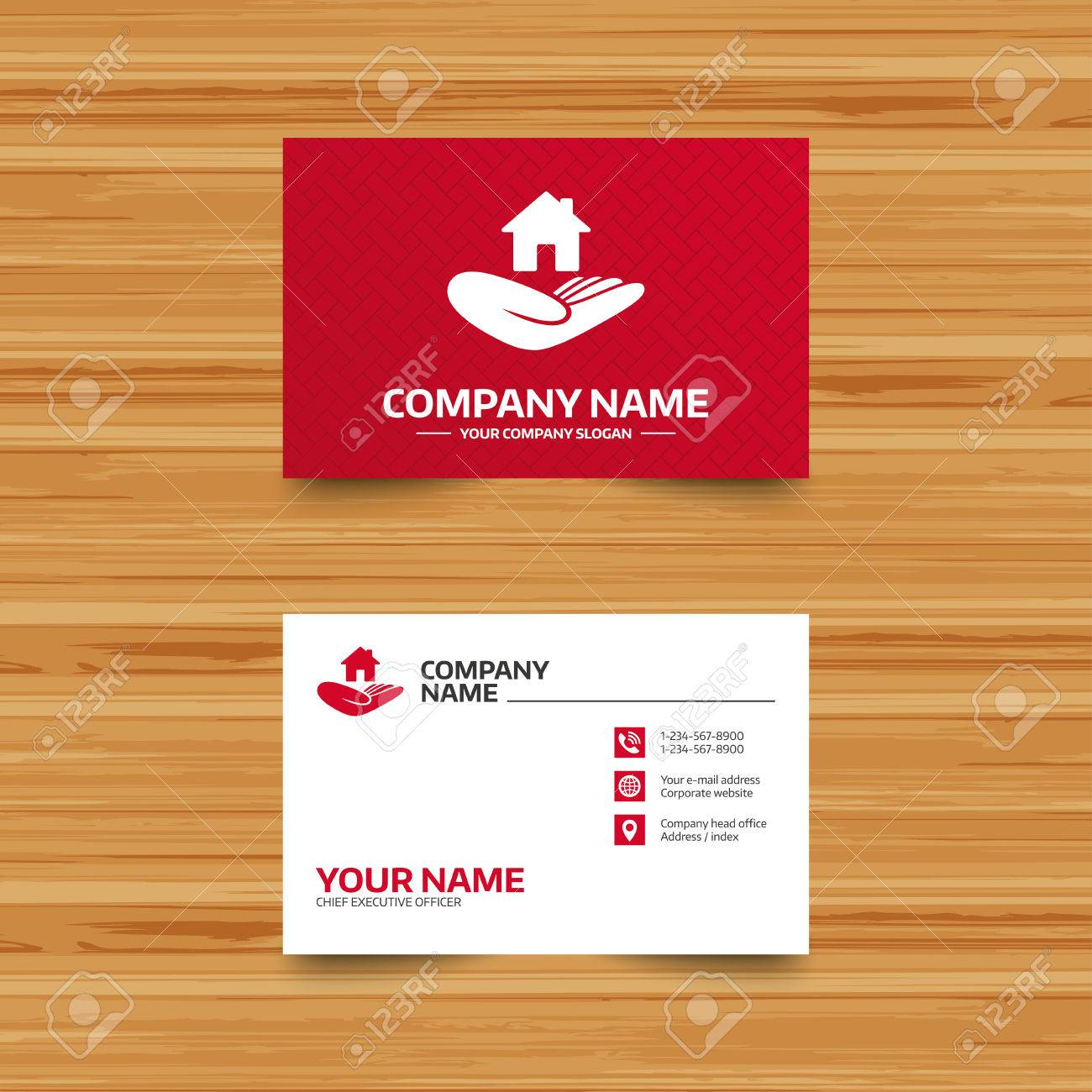 Business card template house insurance sign hand holds home business card template house insurance sign hand holds home symbol insurance of property colourmoves