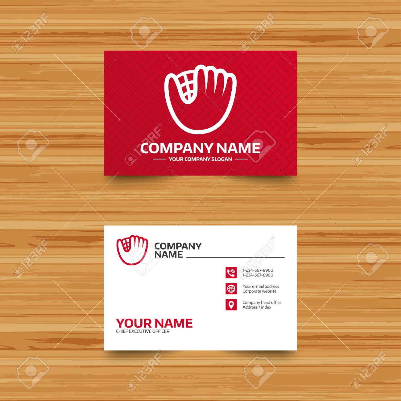 Business card template baseball glove or mitt sign icon sport business card template baseball glove or mitt sign icon sport symbol phone colourmoves Choice Image