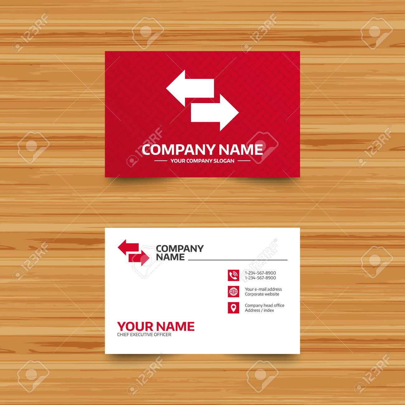 Business Card Template. Incoming And Outgoing Calls Sign. Upload ...