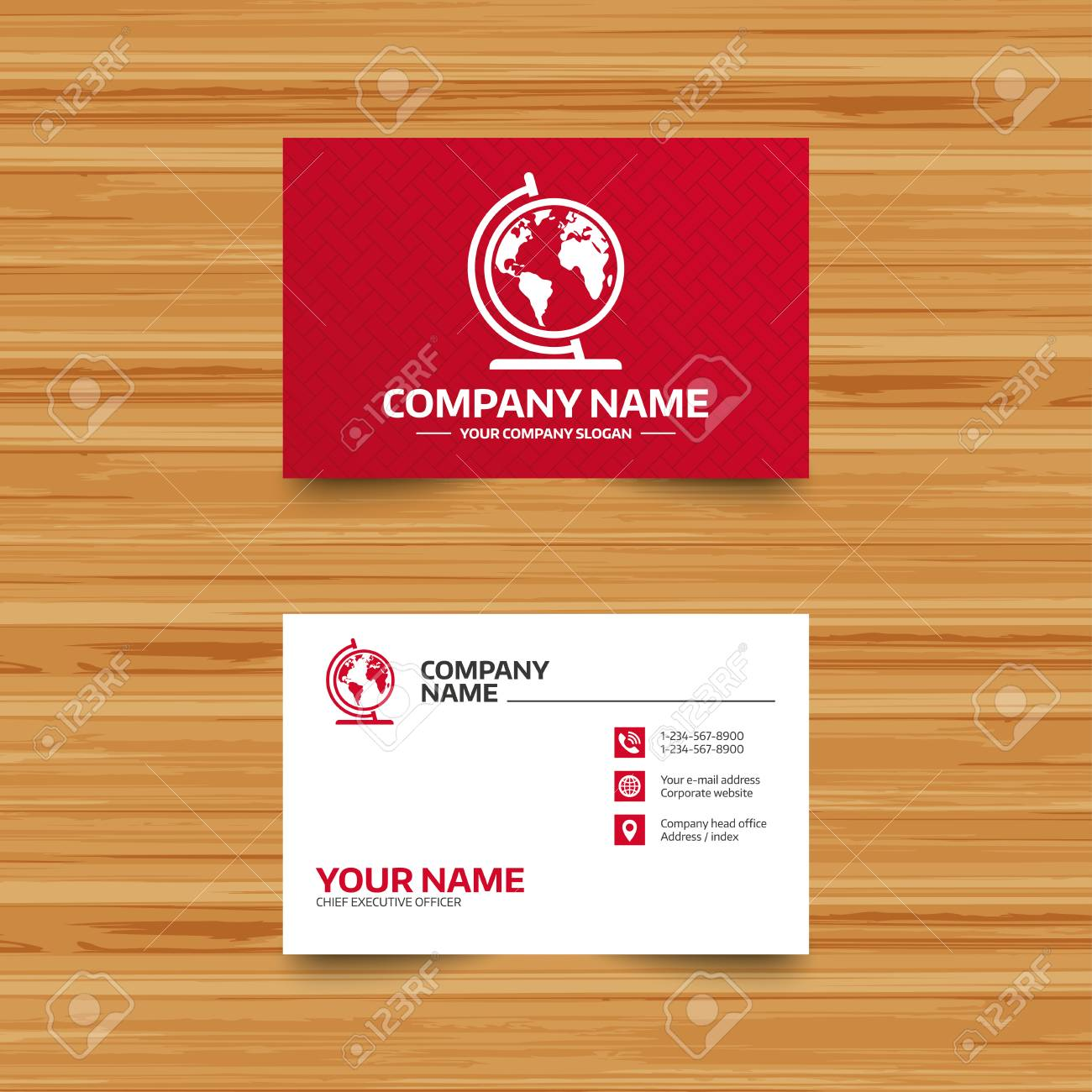 Business card template globe sign icon world map geography business card template globe sign icon world map geography symbol globe on stand colourmoves