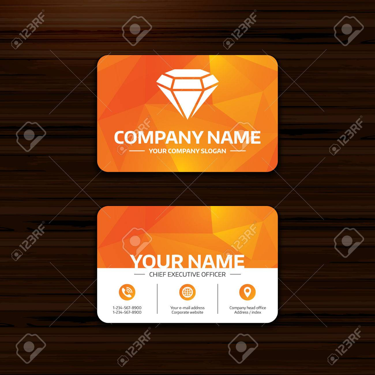Business or visiting card template diamond sign icon jewelry business or visiting card template diamond sign icon jewelry symbol gem stone wajeb Gallery