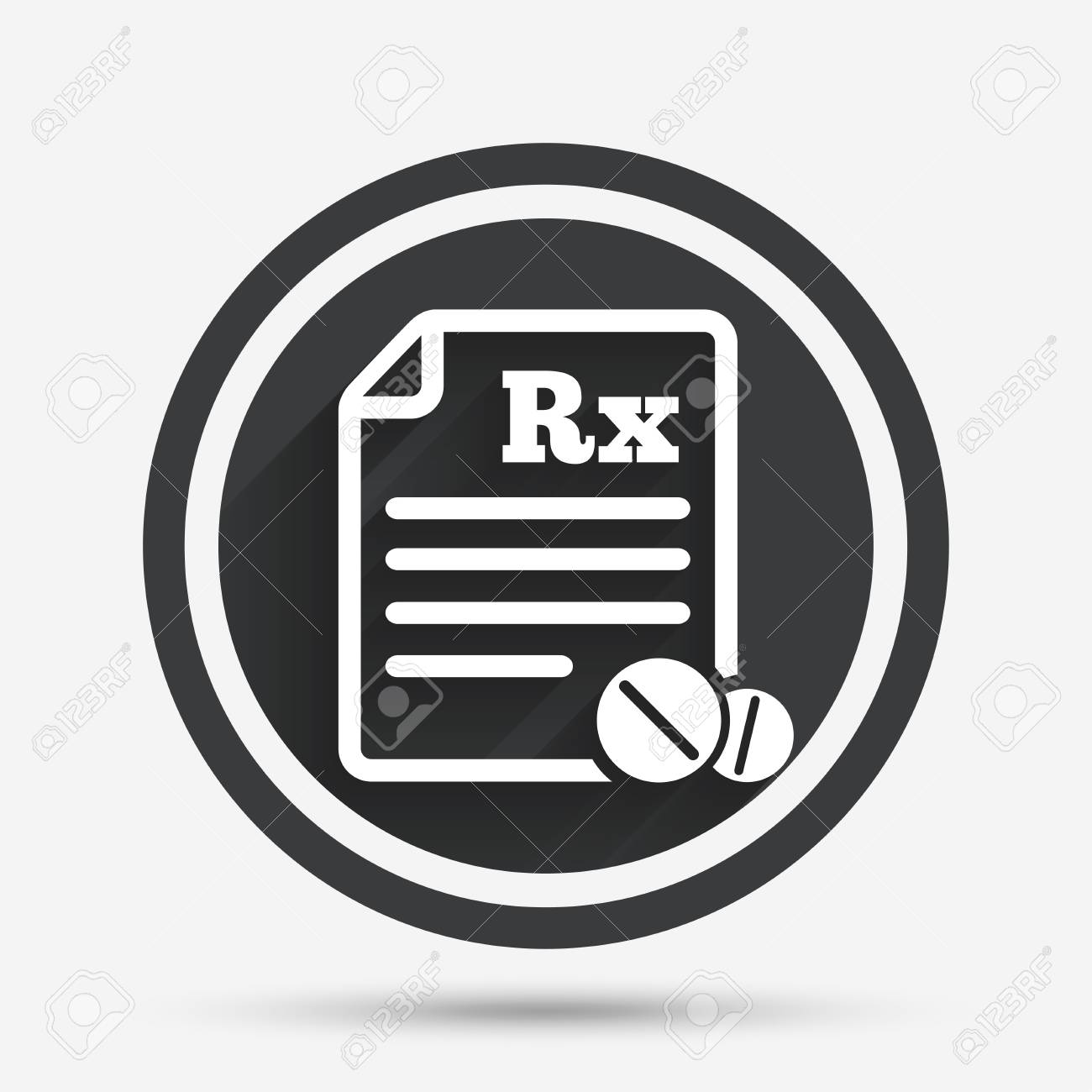 Medical prescription rx sign icon pharmacy or medicine symbol medical prescription rx sign icon pharmacy or medicine symbol with round tablets circle buycottarizona