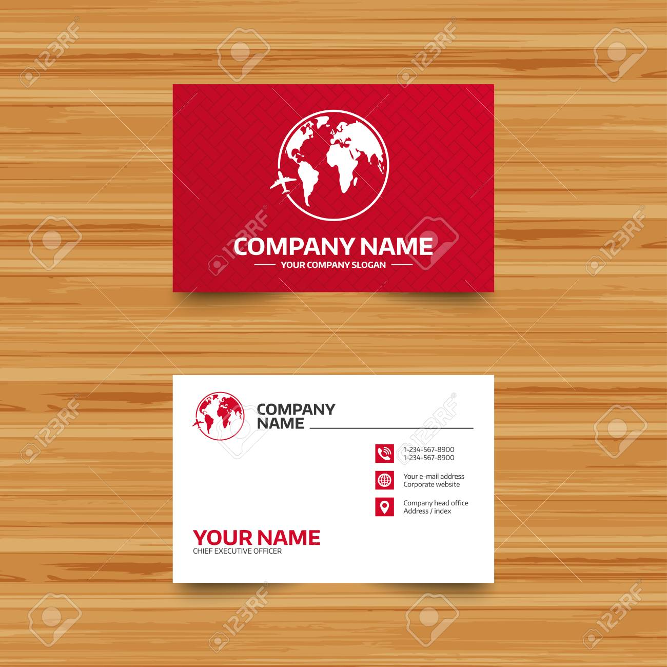 Business card template airplane sign icon travel trip round business card template airplane sign icon travel trip round the world symbol phone fbccfo Gallery