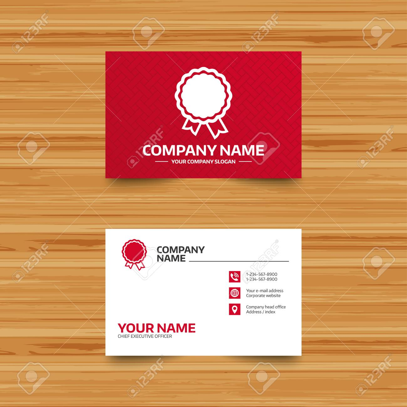 Business card template award icon best guarantee symbol winner business card template award icon best guarantee symbol winner achievement sign phone accmission Choice Image
