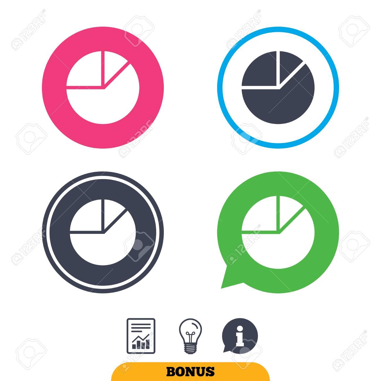 Pie Chart Graph Sign Icon Diagram Button Report Document