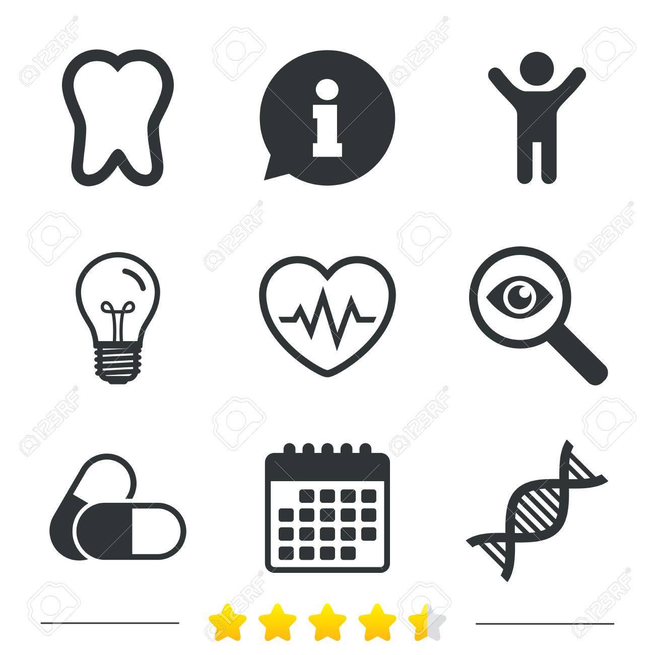 Iconos De Maternidad. Píldoras, Dentales, De ADN Y Cardiograma ...