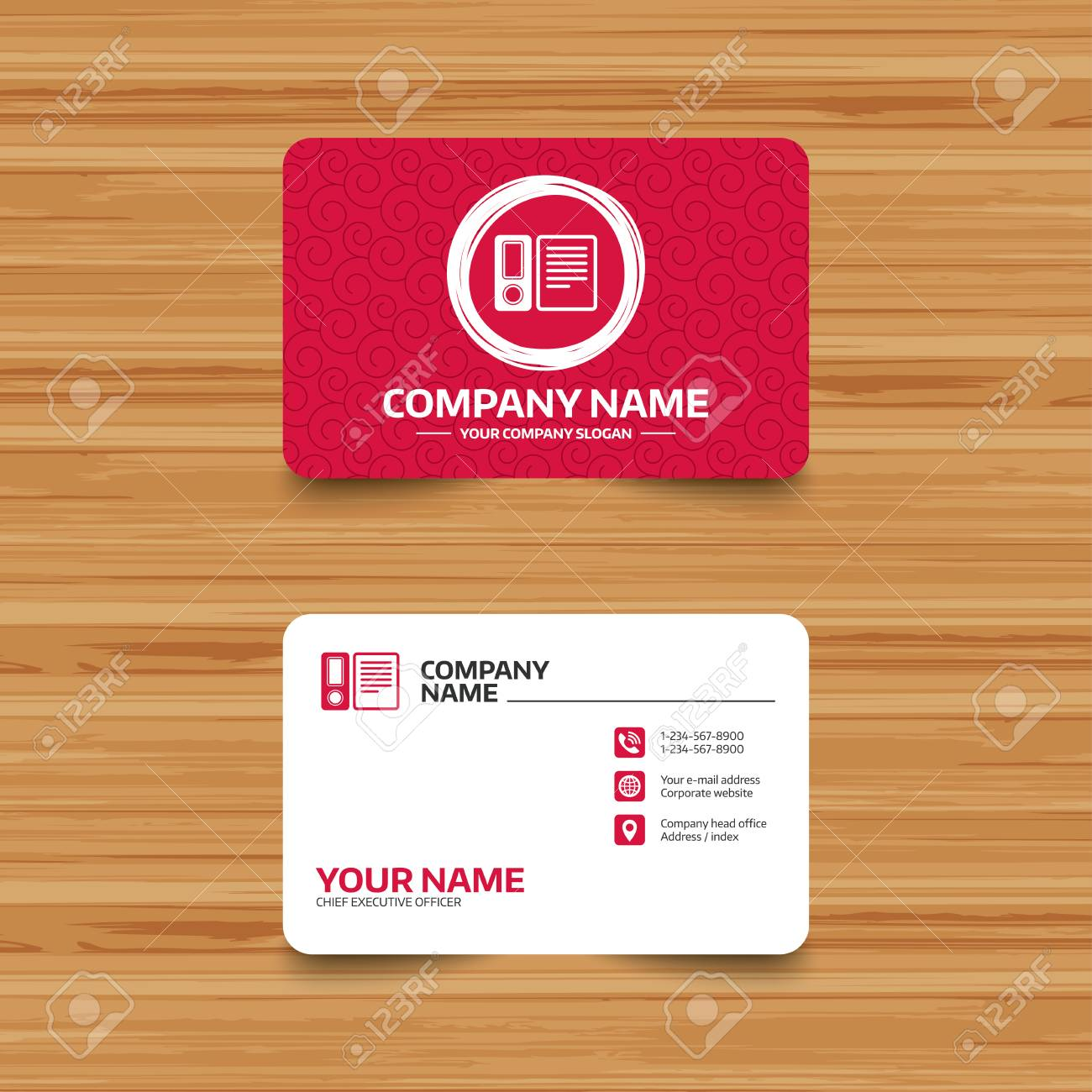 Business card template with texture document folder sign business card template with texture document folder sign accounting binder symbol bookkeeping management fbccfo Image collections
