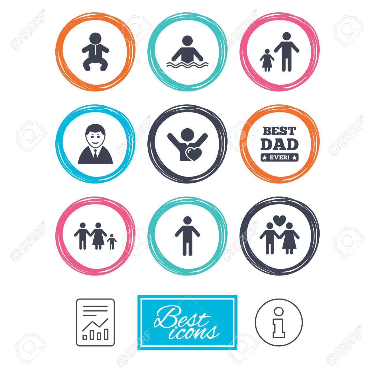 People family icons swimming pool love and children signs swimming pool love and children signs best dad buycottarizona