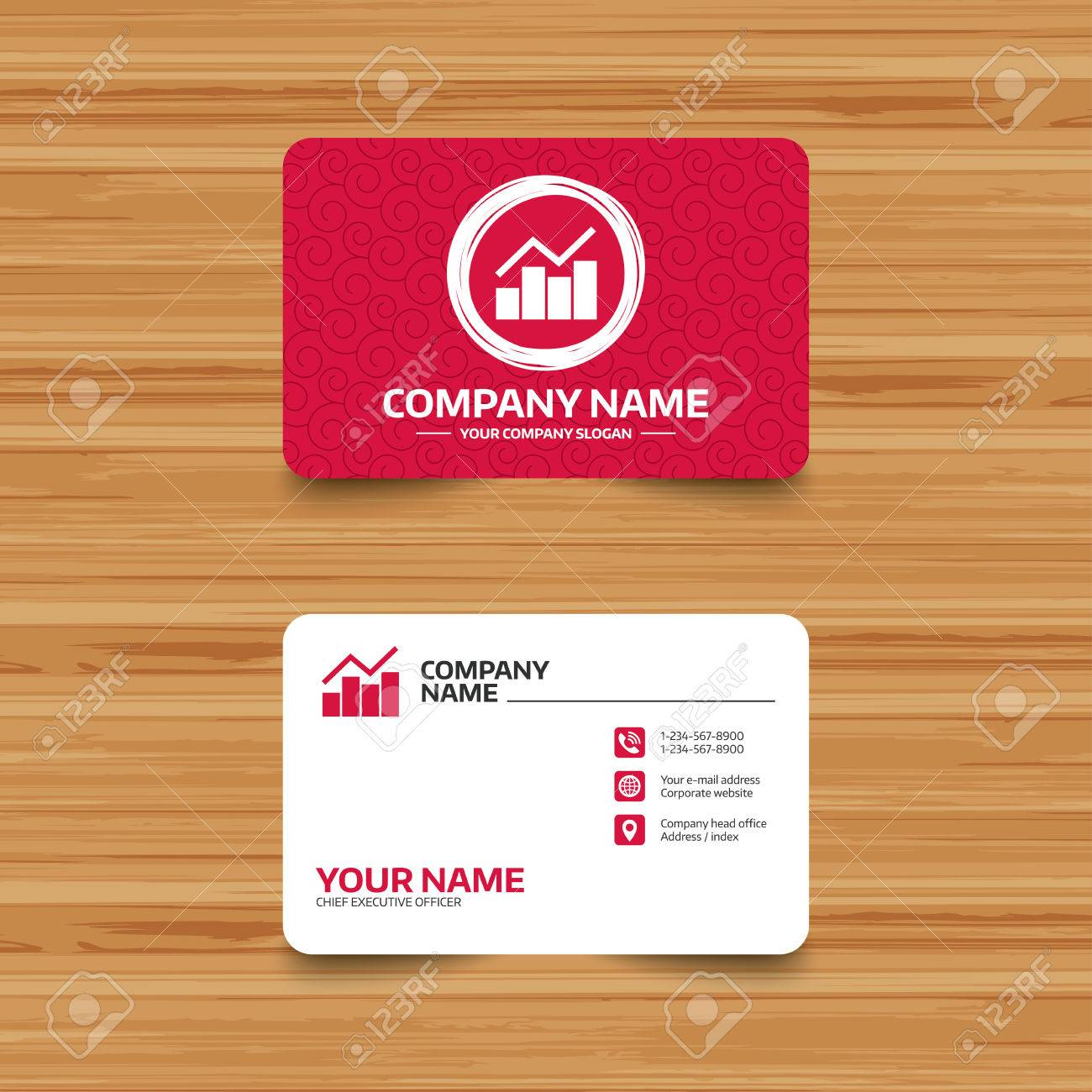 Business card template with texture graph chart sign icon diagram business card template with texture graph chart sign icon diagram symbol statistics colourmoves