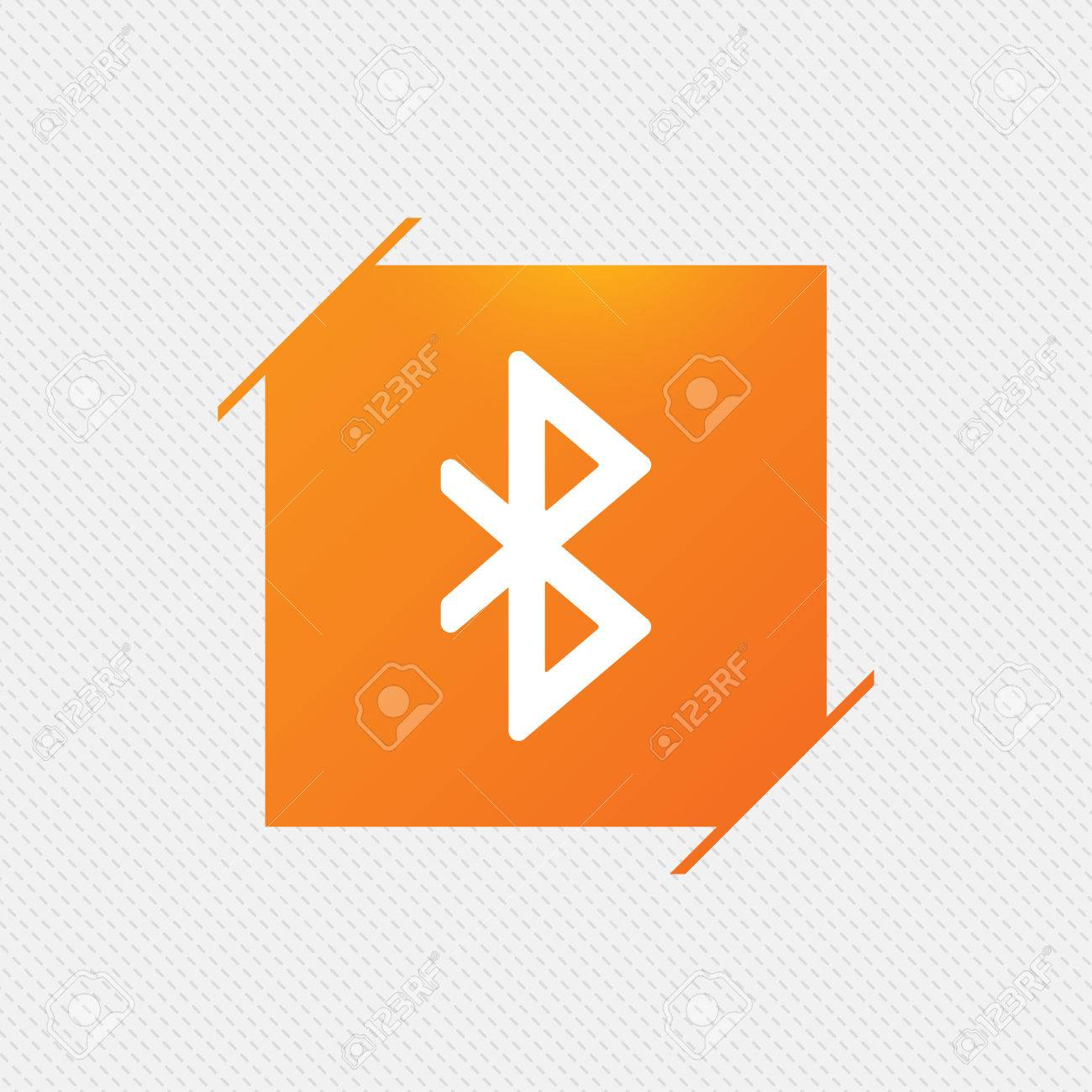 Bluetooth symbol images stock pictures royalty free bluetooth mobile network symbol data transfer orange square label on pattern biocorpaavc