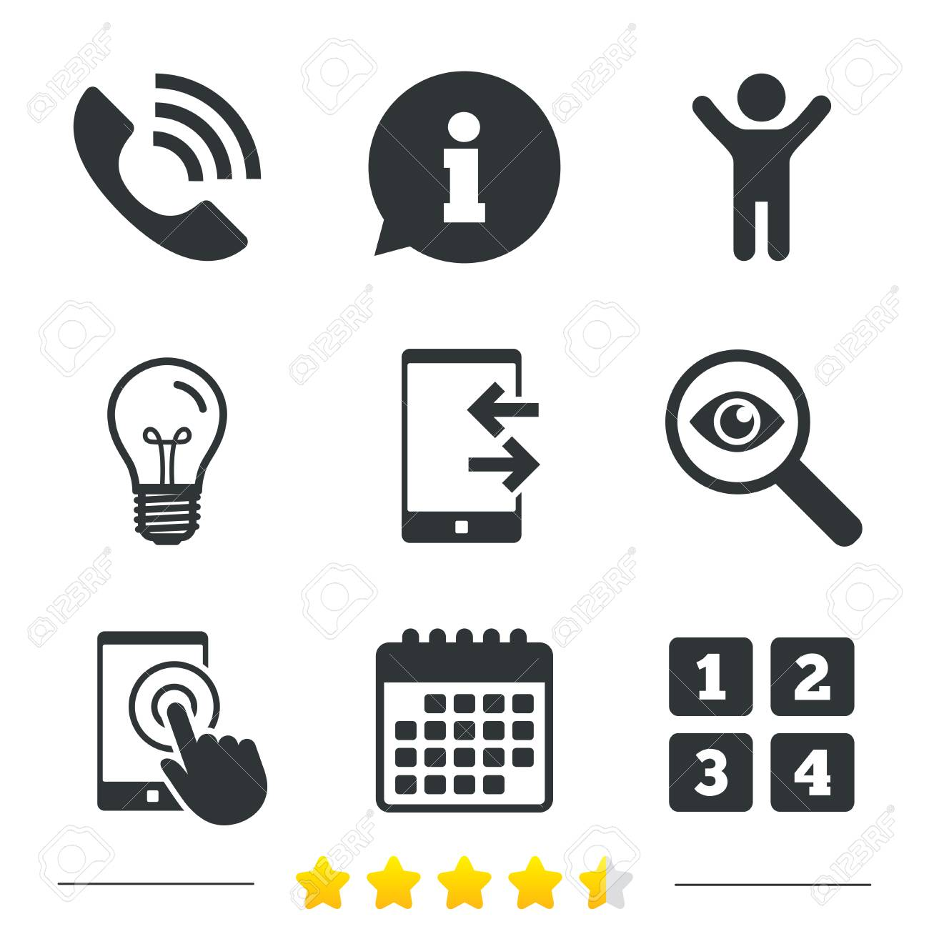 Phone icons touch screen smartphone sign call center support phone icons touch screen smartphone sign call center support symbol cellphone keyboard symbol biocorpaavc Gallery