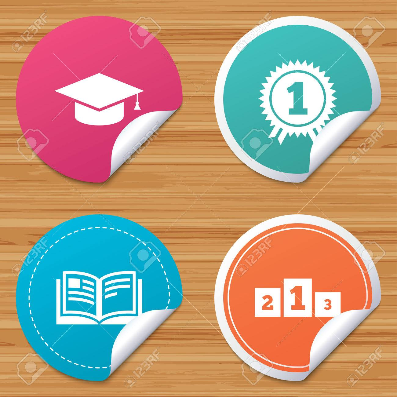 round stickers or website banners graduation icons graduation