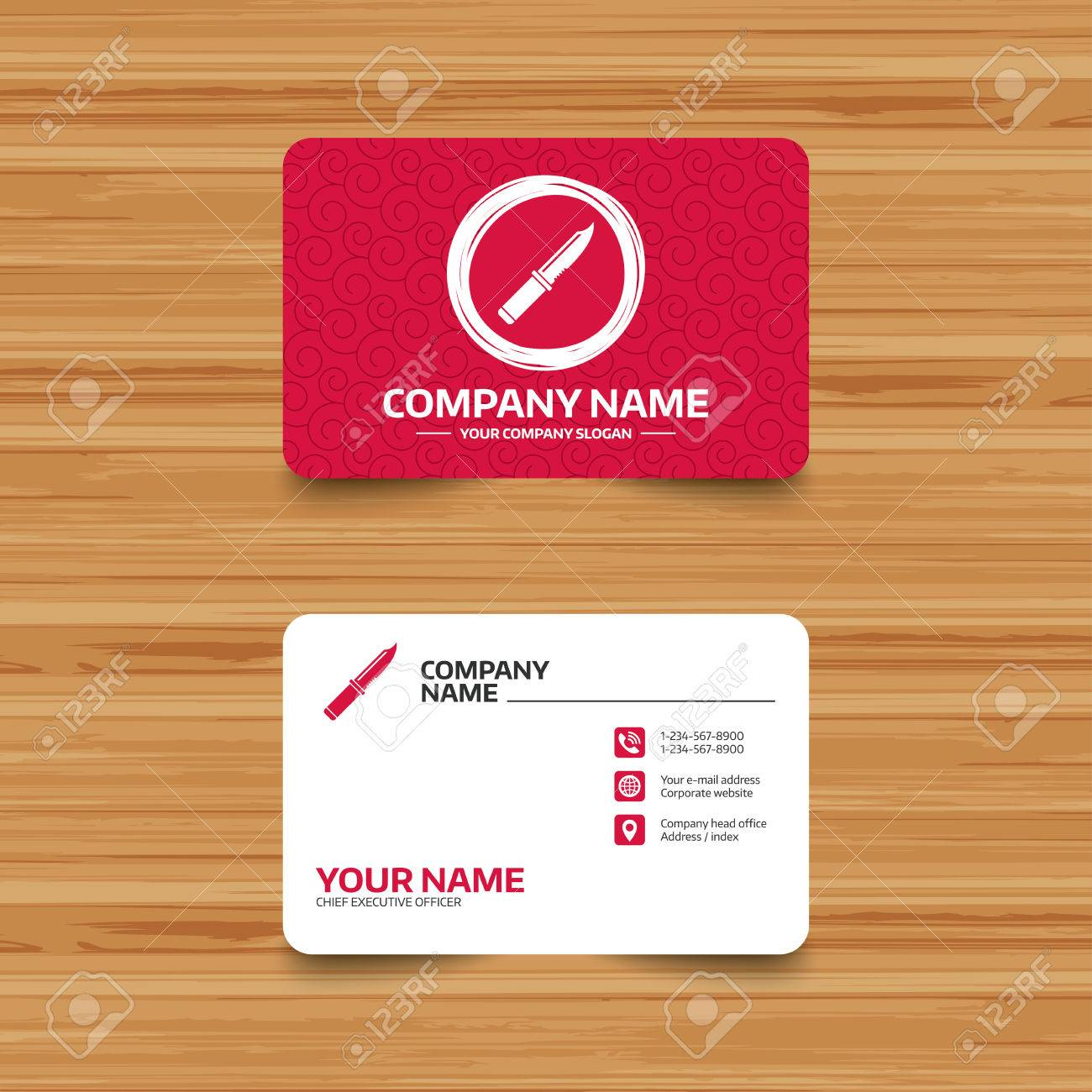 Business card template with texture knife sign icon edged weapons business card template with texture knife sign icon edged weapons symbol stab or colourmoves