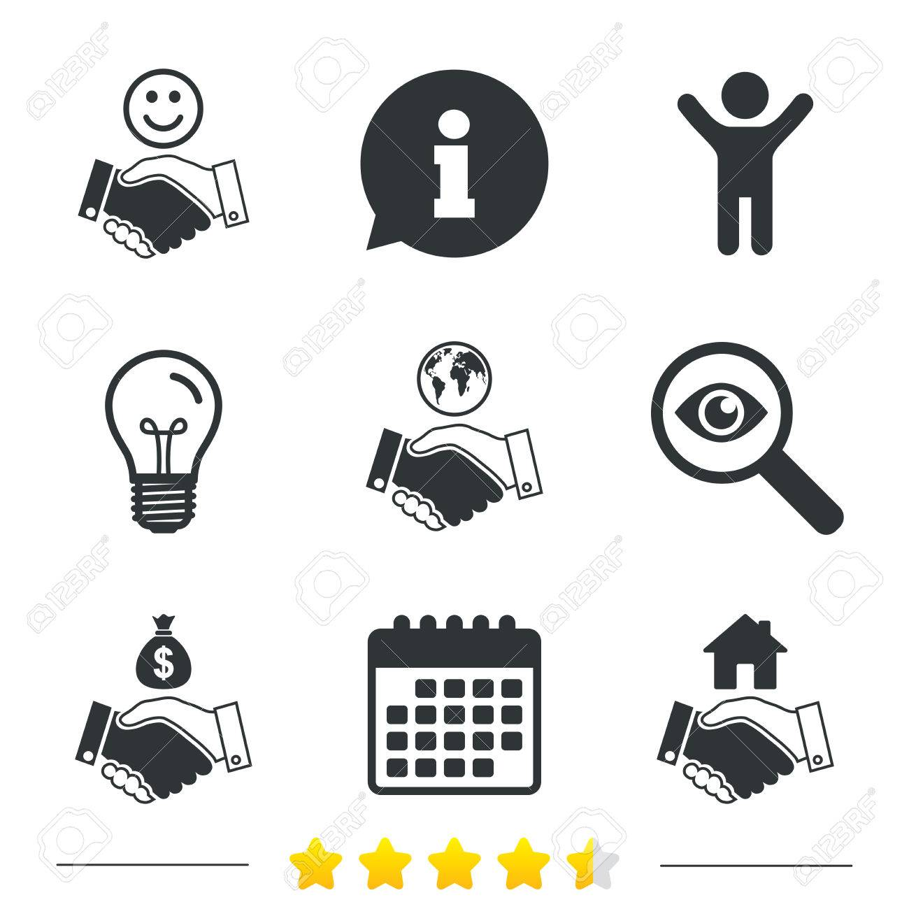 Handshake icons world smile happy face and house building symbol world smile happy face and house building symbol dollar cash money biocorpaavc Image collections