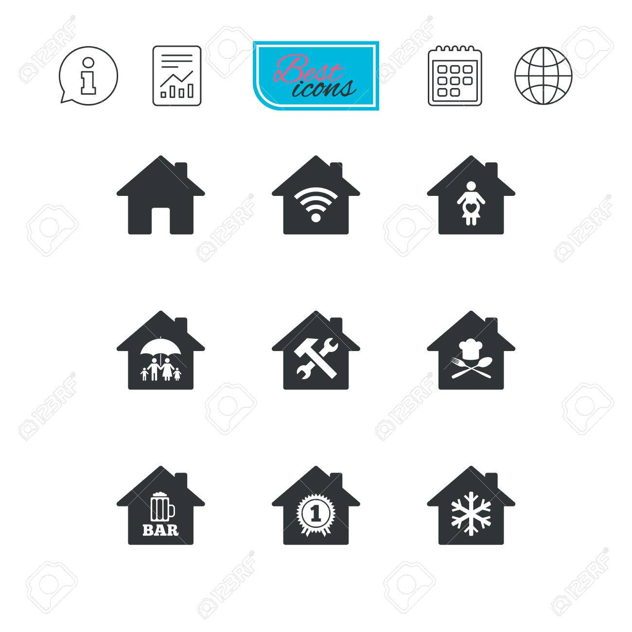 Home Wireless Internet Symbol Wire Center Plumbingwarehousecom Delta Bathroom Faucet Parts For Model 2540 Real Estate Icons Insurance Maternity Hospital And Wifi Rh 123rf Com Hp Connection Symbols
