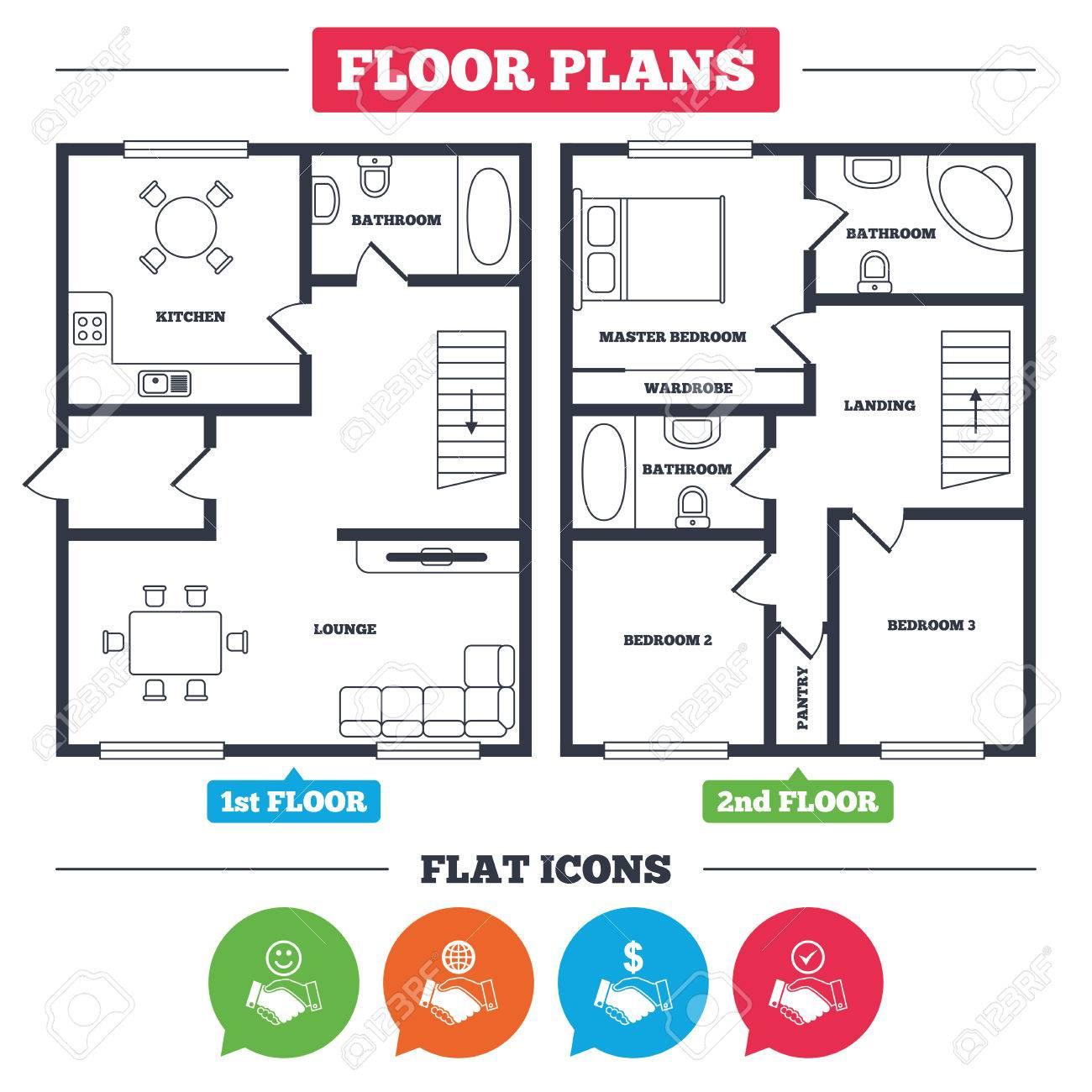 Architecture Plan With Furniture House Floor Plan Handshake