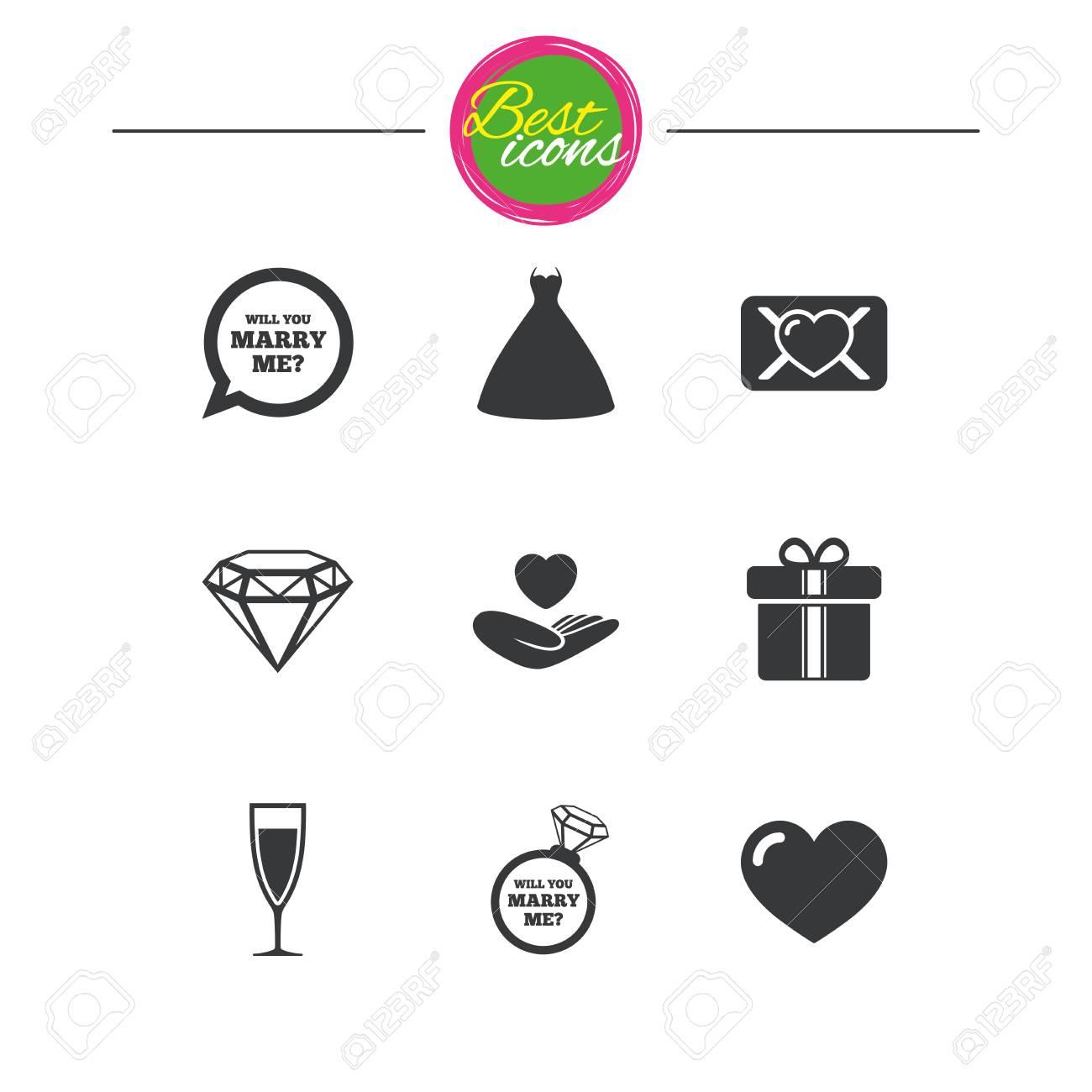 Hochzeit Engagement Symbole Liebe Eid Brief Geschenk Box Und