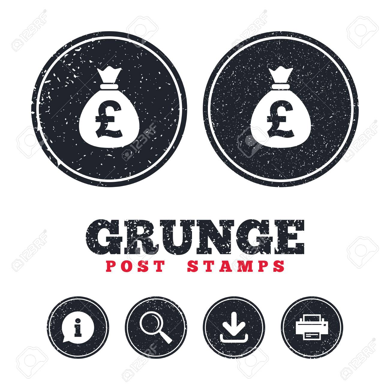 Grunge post stamps money bag sign icon pound gbp currency symbol grunge post stamps money bag sign icon pound gbp currency symbol information biocorpaavc Gallery