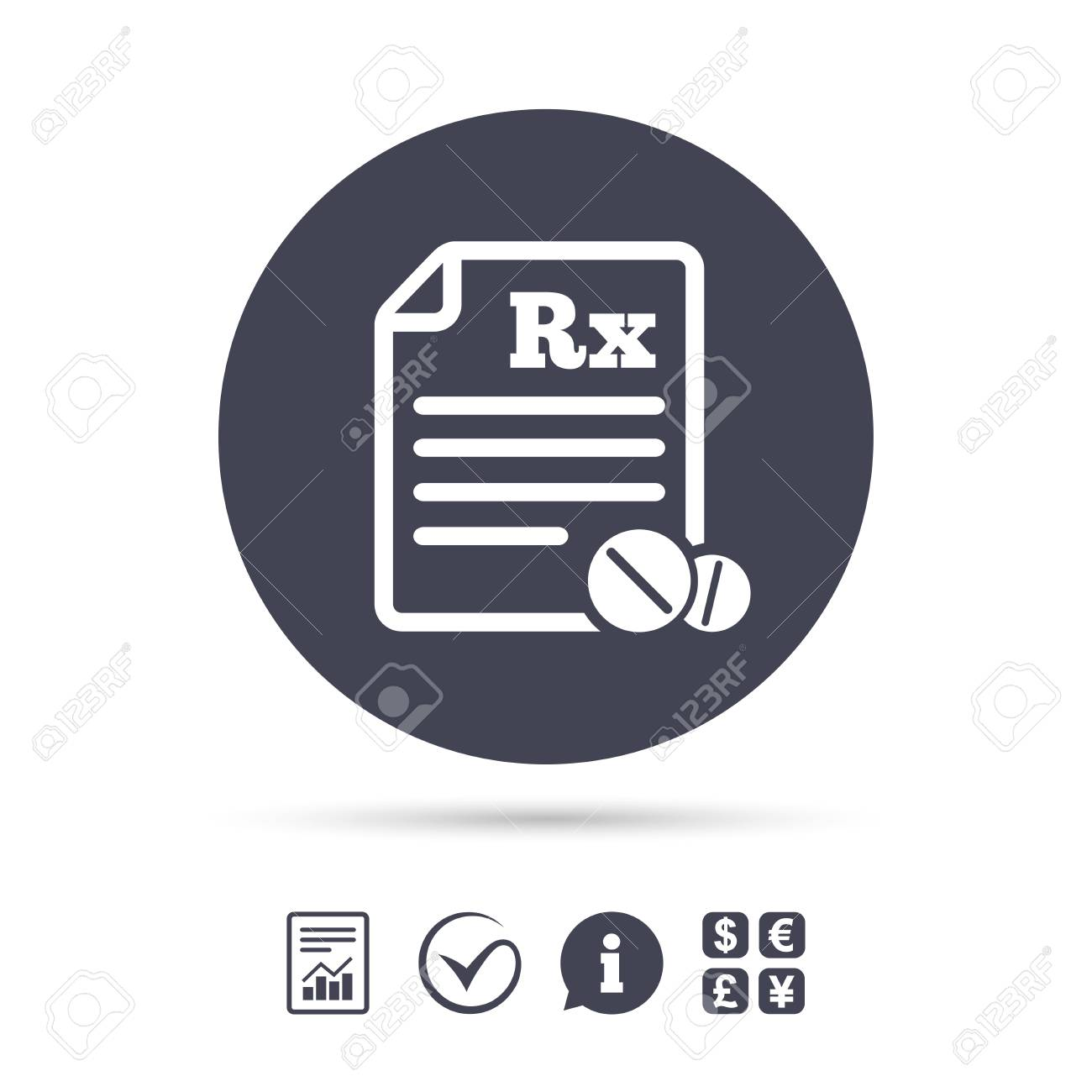 Medical prescription rx sign icon pharmacy or medicine symbol medical prescription rx sign icon pharmacy or medicine symbol with round tablets report buycottarizona
