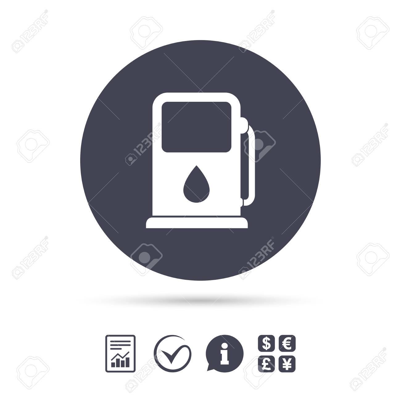 Benzin Oder Tankstelle Zeichen Symbol Auto Kraftstoff Symbol