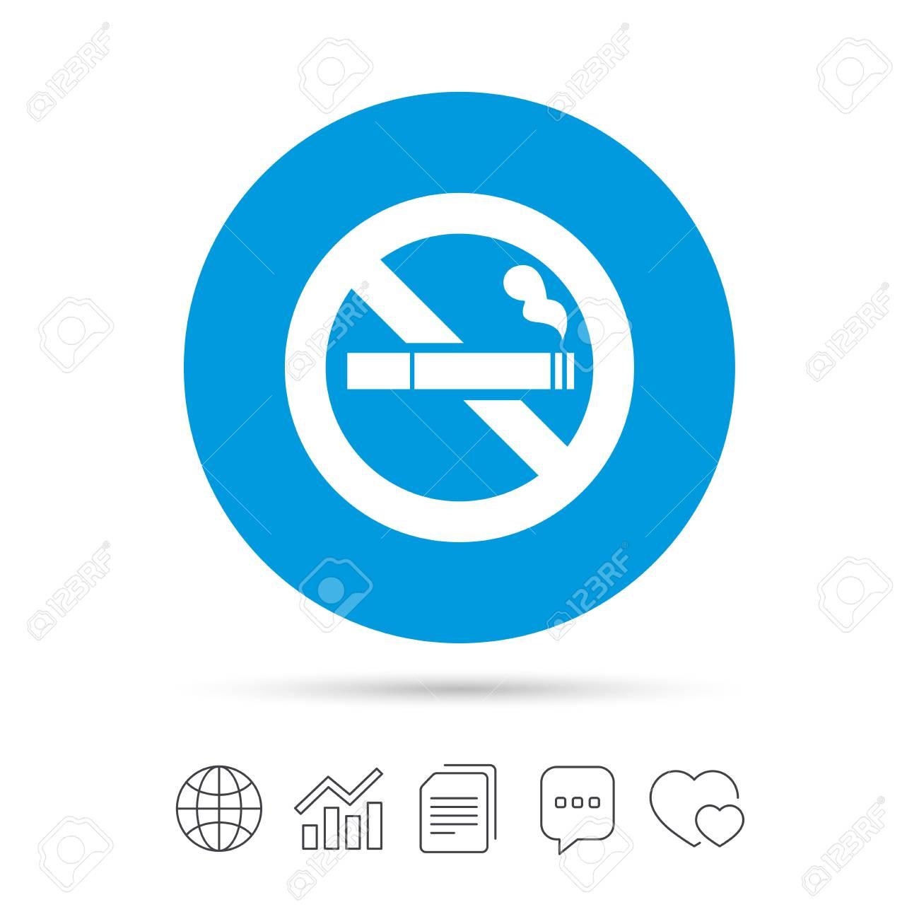 No Smoking Sign Icon Cigarette Symbol Copy Files Chat Speech