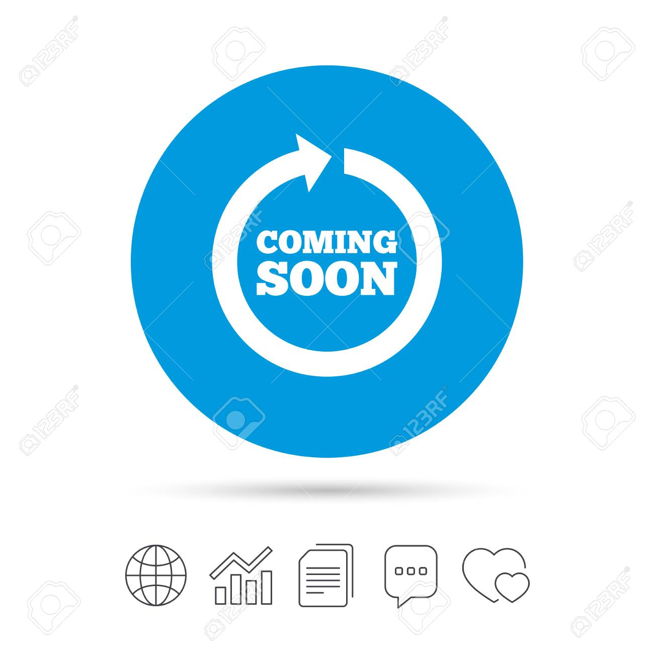 coming soon sign icon promotion announcement symbol copy files