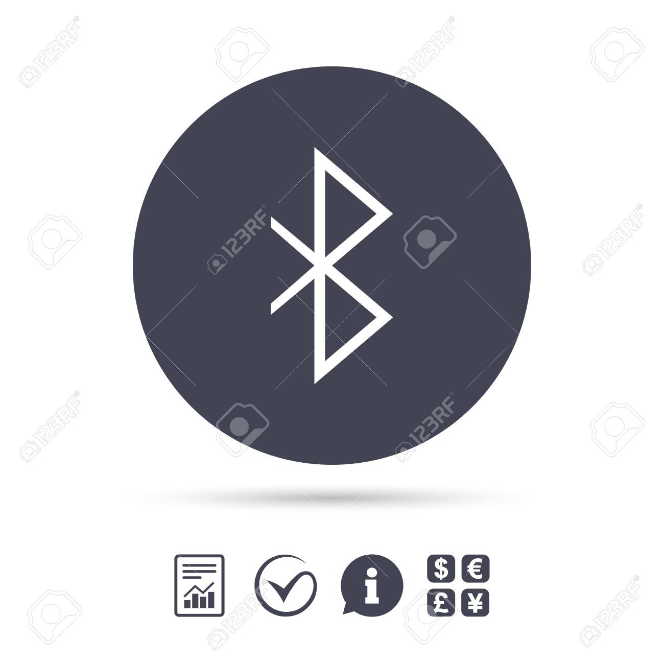 Bluetooth Sign Icon Mobile Network Symbol Data Transfer Report