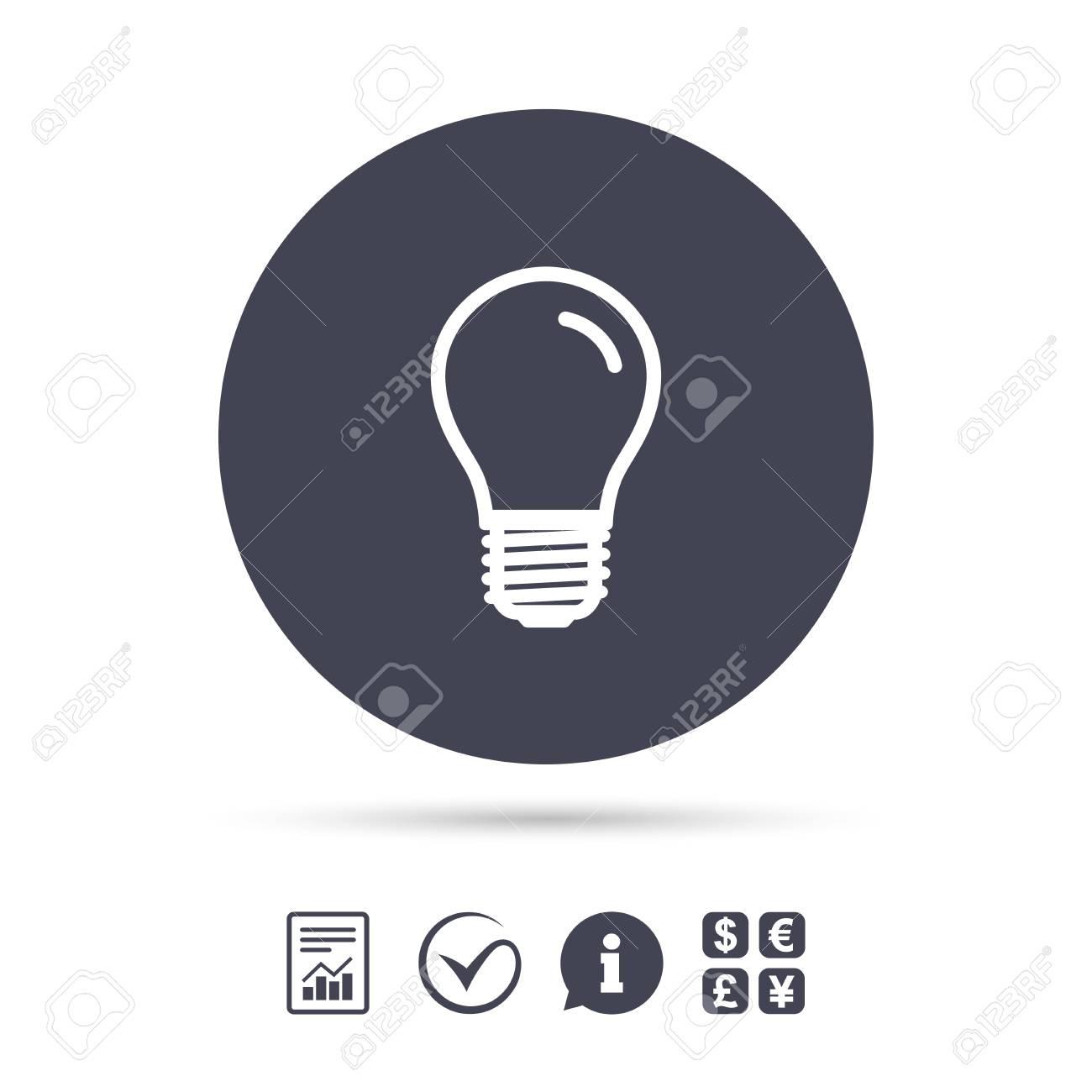Light Bulb Icon Lamp E27 Screw Socket Symbol Led Light Sign
