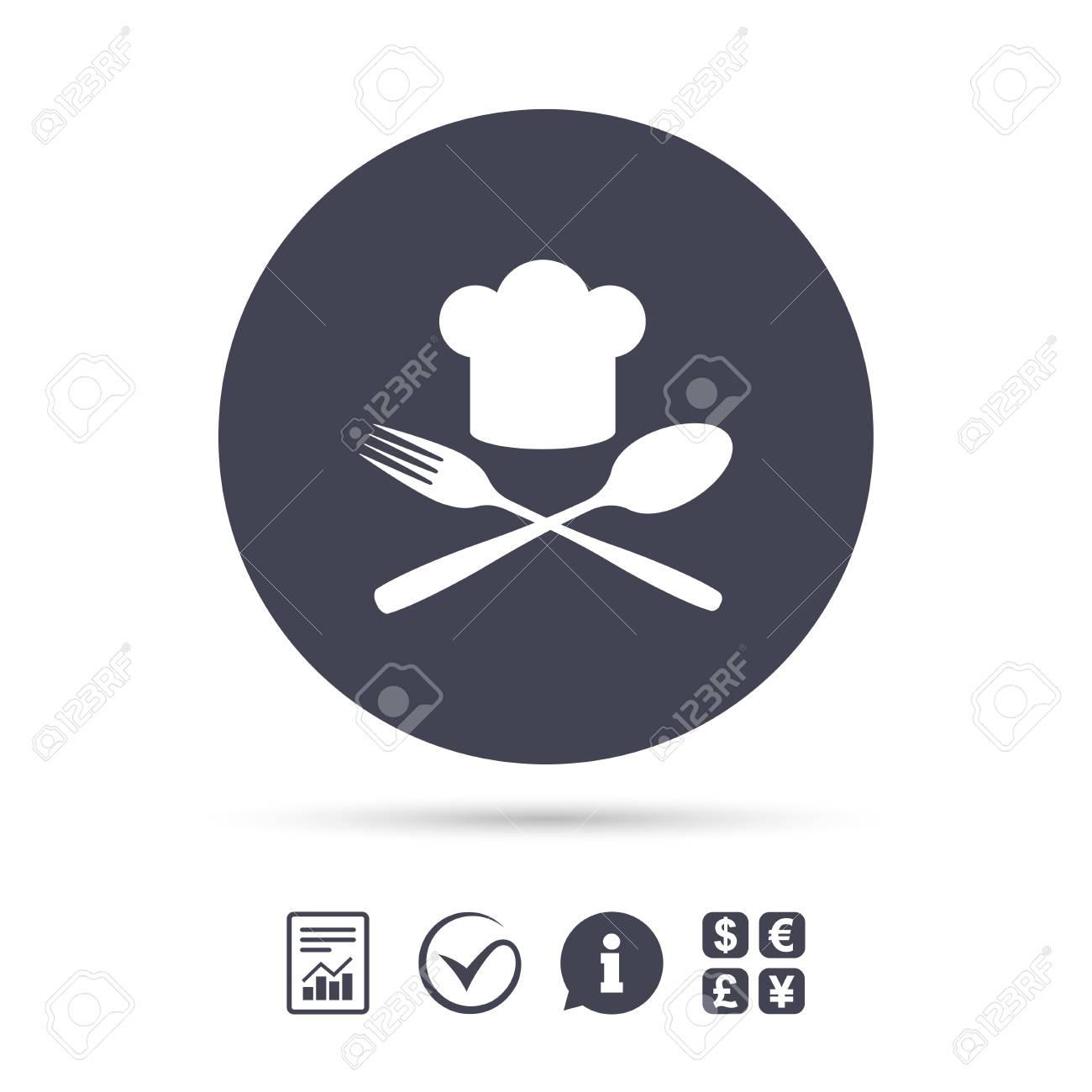 Icono De Signo De Sombrero De Chef. Símbolo De Cocina Cocinero ...