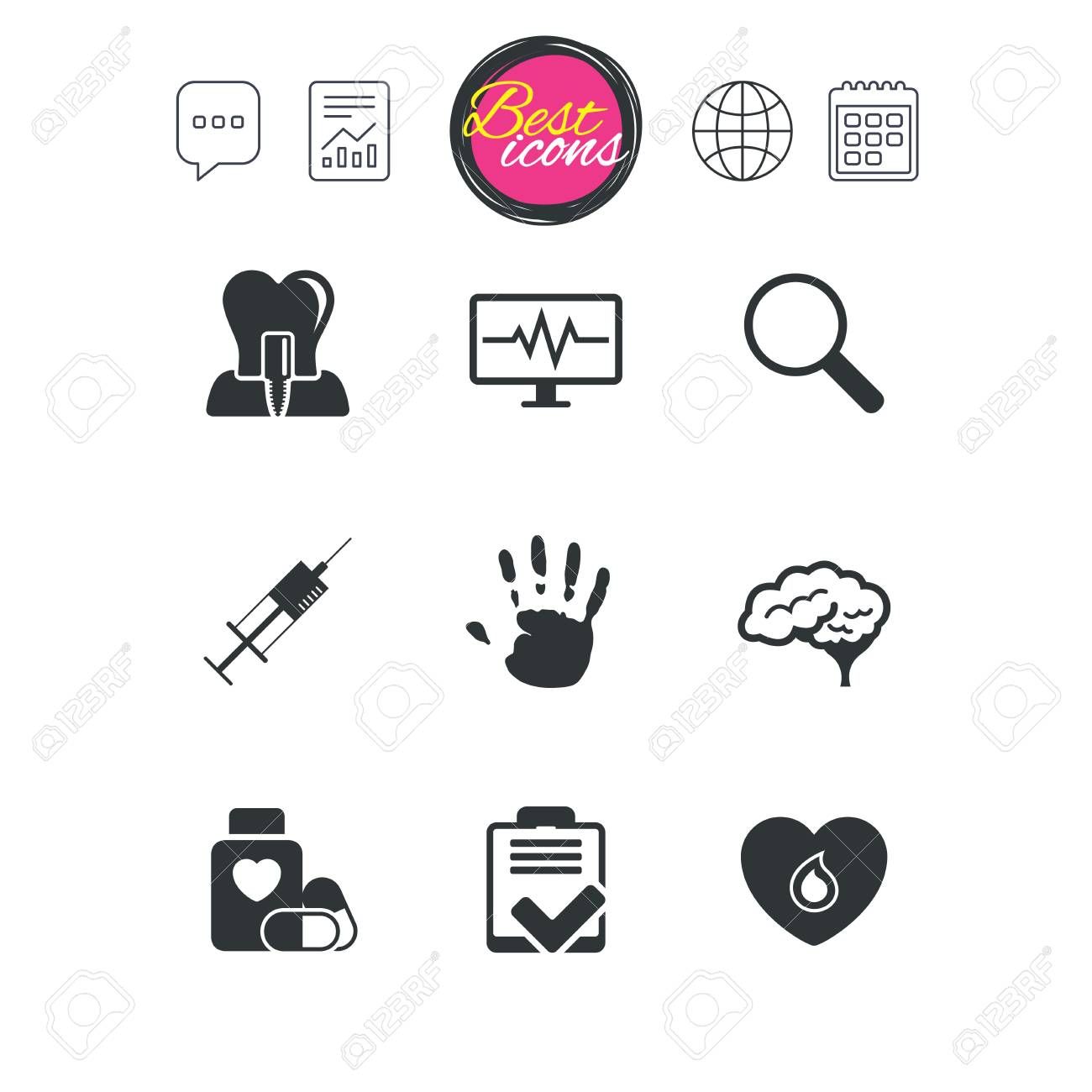Chat speech bubble report and calendar signs medicine medical chat speech bubble report and calendar signs medicine medical health and diagnosis icons biocorpaavc