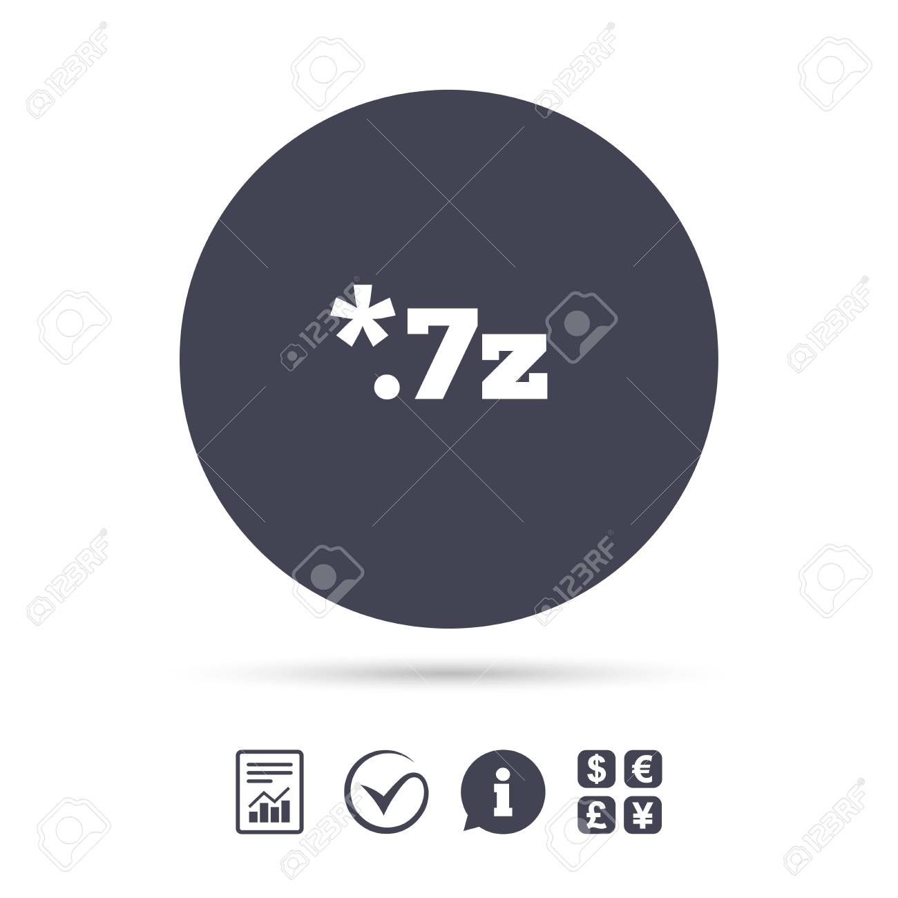 Archive file icon  Download compressed file button  7z zipped