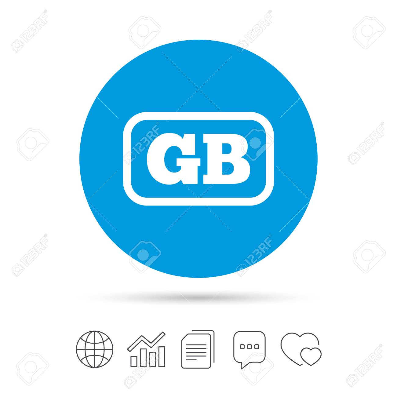 Icono De Signo De Idioma Británico. GB Gran Bretaña Símbolo De ...