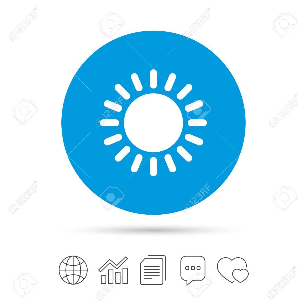 Sun Icon Sunlight Summer Symbol Hot Weather Sign Copy Files