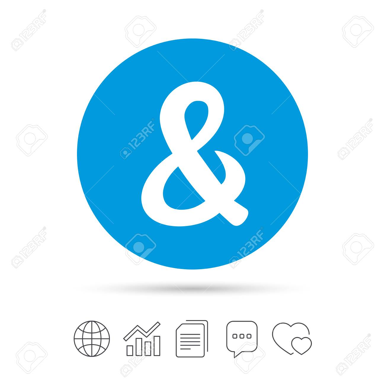 Ampersand Sign Icon. Programming Logical Operator AND. Wedding ...