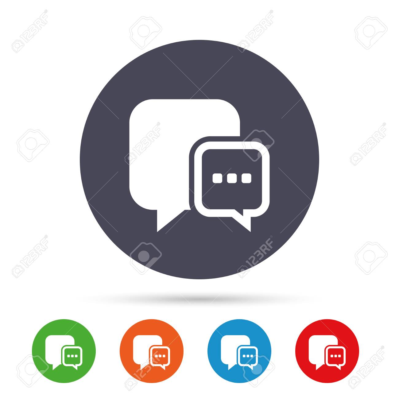 Chat sign icon speech bubble with three dots symbol speech bubble with three dots symbol communication chat bubble round biocorpaavc