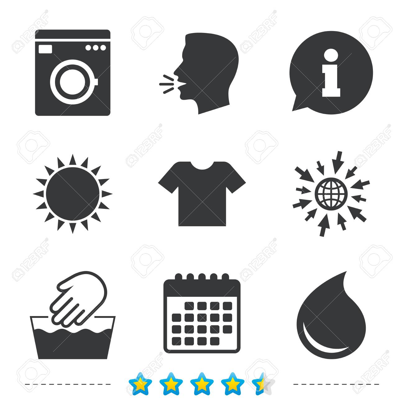 Wash machine icon hand wash t shirt clothes symbol laundry wash machine icon hand wash t shirt clothes symbol laundry washhouse and buycottarizona Image collections