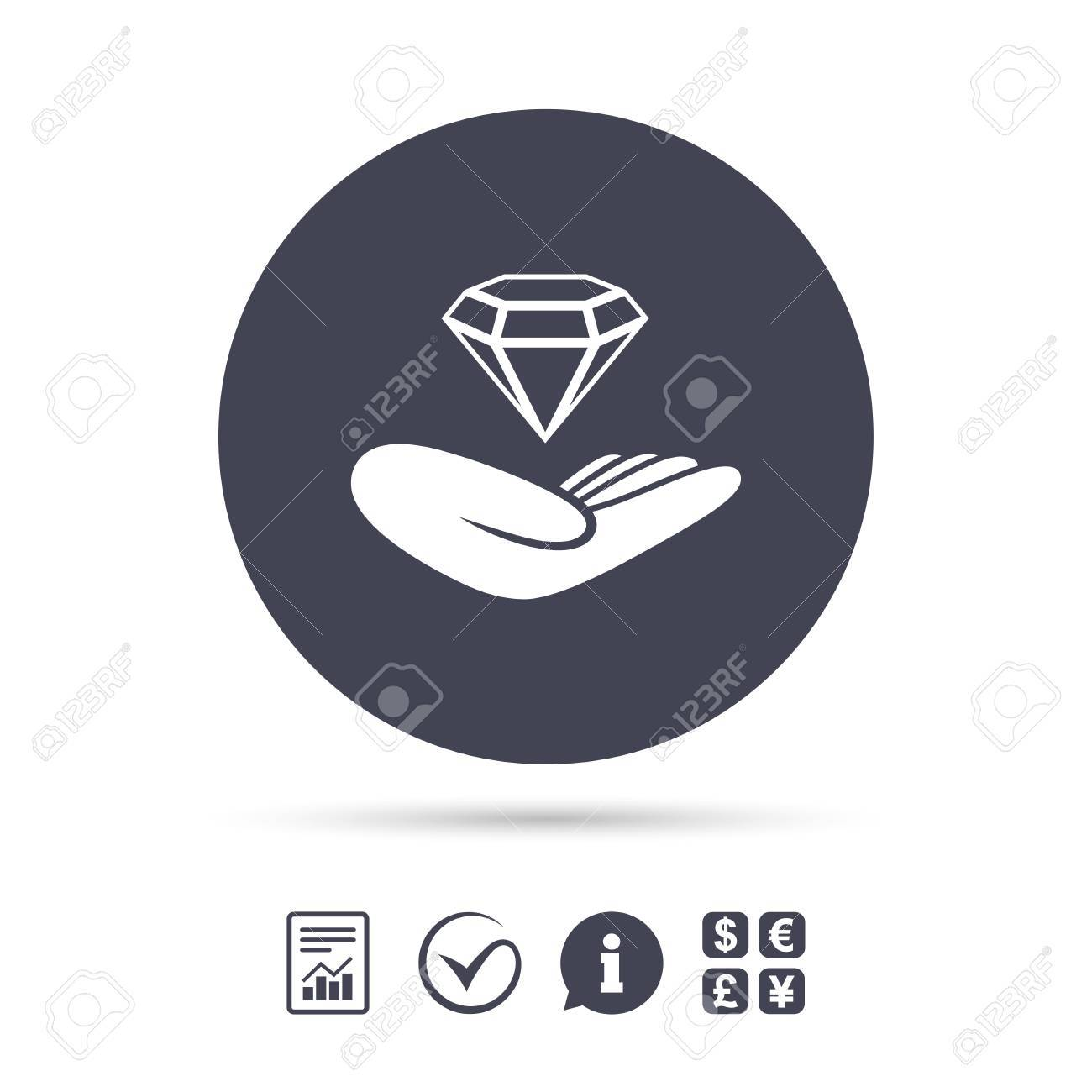 Jewelry insurance sign hand holds diamond symbol brilliant hand holds diamond symbol brilliant insurance report document information biocorpaavc