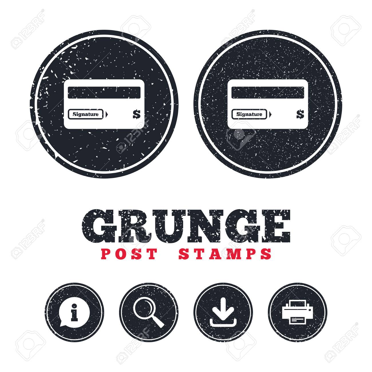 picture relating to Free Printable Credit Card Signs identify Grunge posting stamps. Credit history card signal icon. Debit card emblem