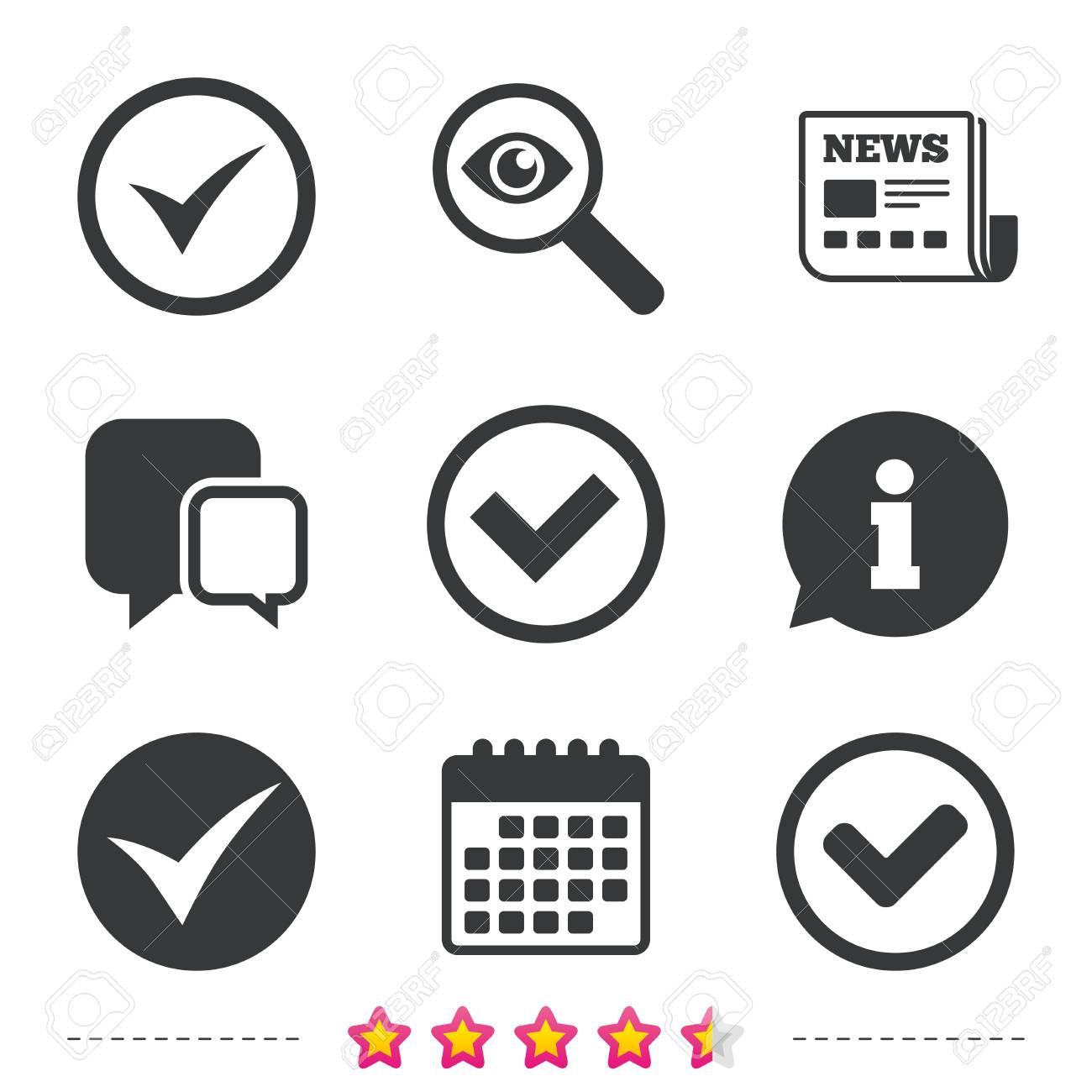Check icons  Checkbox confirm circle sign symbols  Newspaper,
