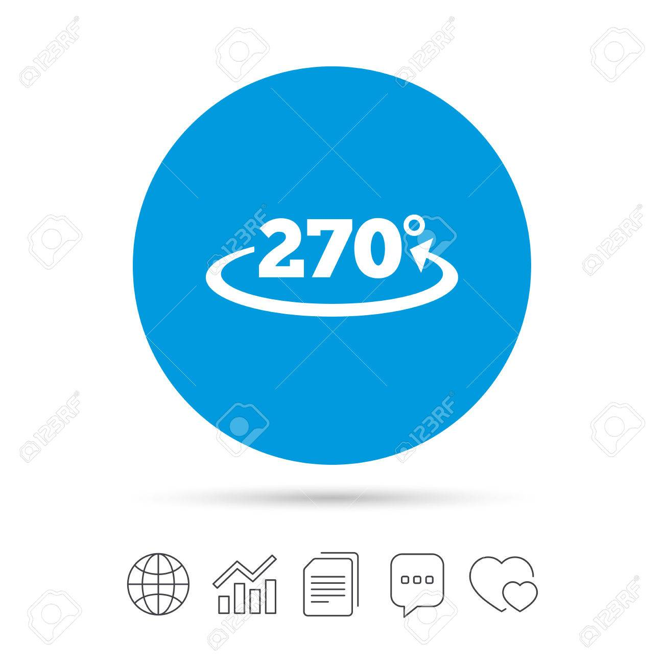Angle 270 Degrees Sign Icon. Geometry Math Symbol. Copy Files ...